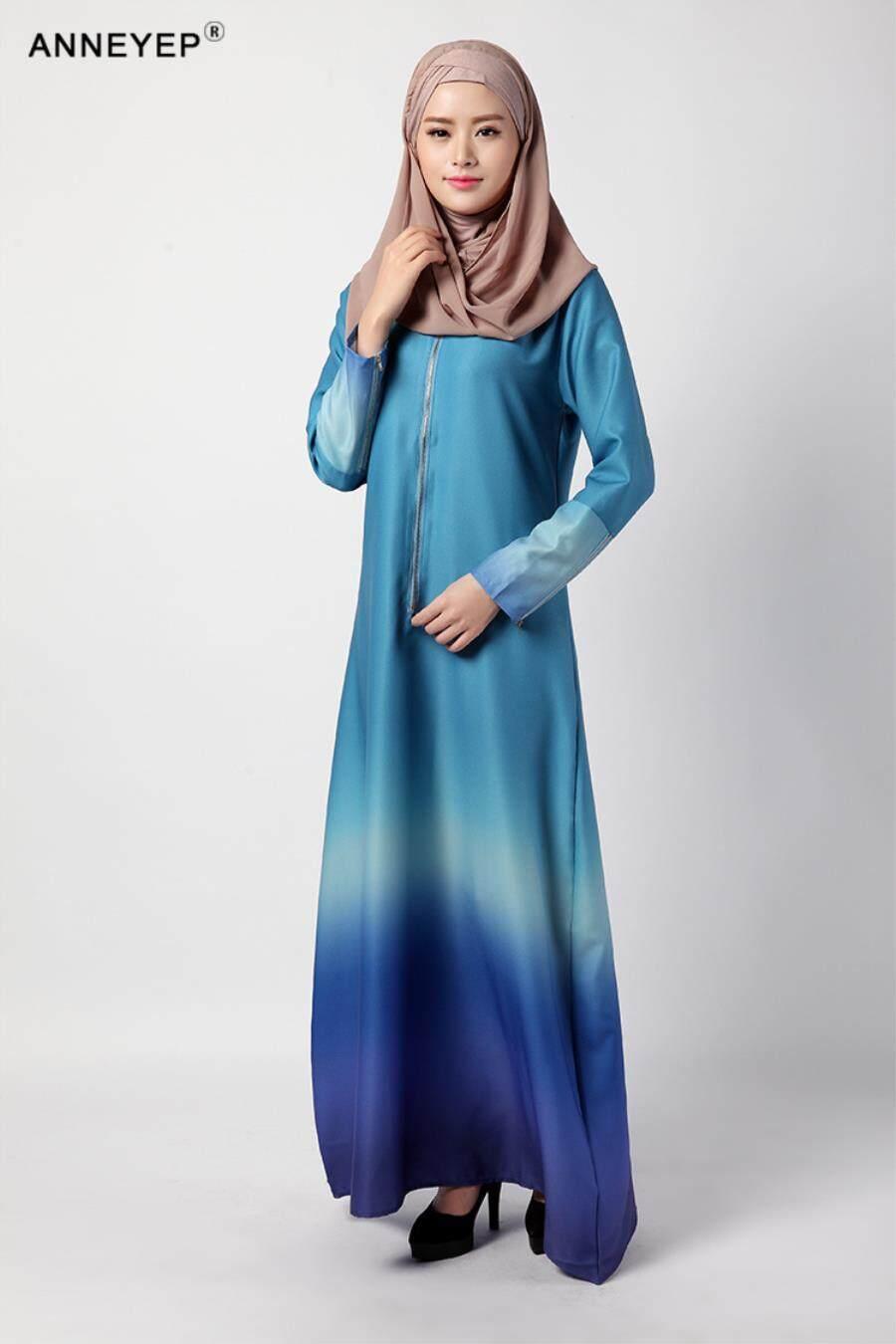 2018 Muslim Dress Summer New Dress Malaysia Rainbow Dress 034 - intl