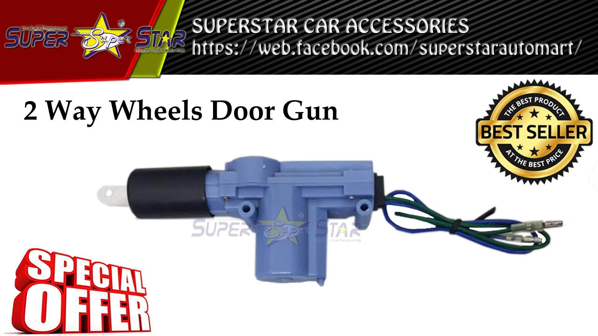 Superstar Car Accessories New Arrival Pixy Plus Viva 2 Way Wheels Door Gun Actuator Central Lock For Proton Wira Saga Perodua Myvi Replacement