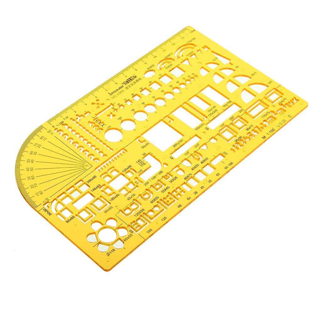 Furniture Measuring Geometric Drawing Template House Building Formwork KT  Soft Plastic Ruler Stencil - intl
