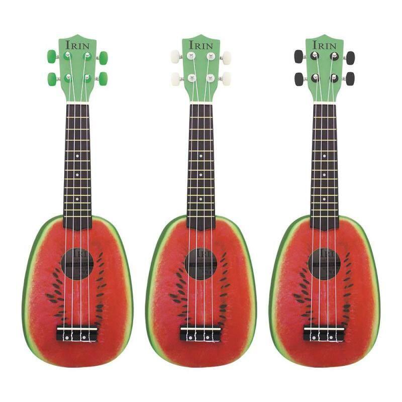 Supermall 21 inch 12 Phím Đàn 4 Dây Bồ Đề Đàn Ukulele Điện Acoustic Dưa Hấu Phong Cách Ukelele cho Nhạc Cụ Người Yêu Âm Nhạc nhạc cụ Accs