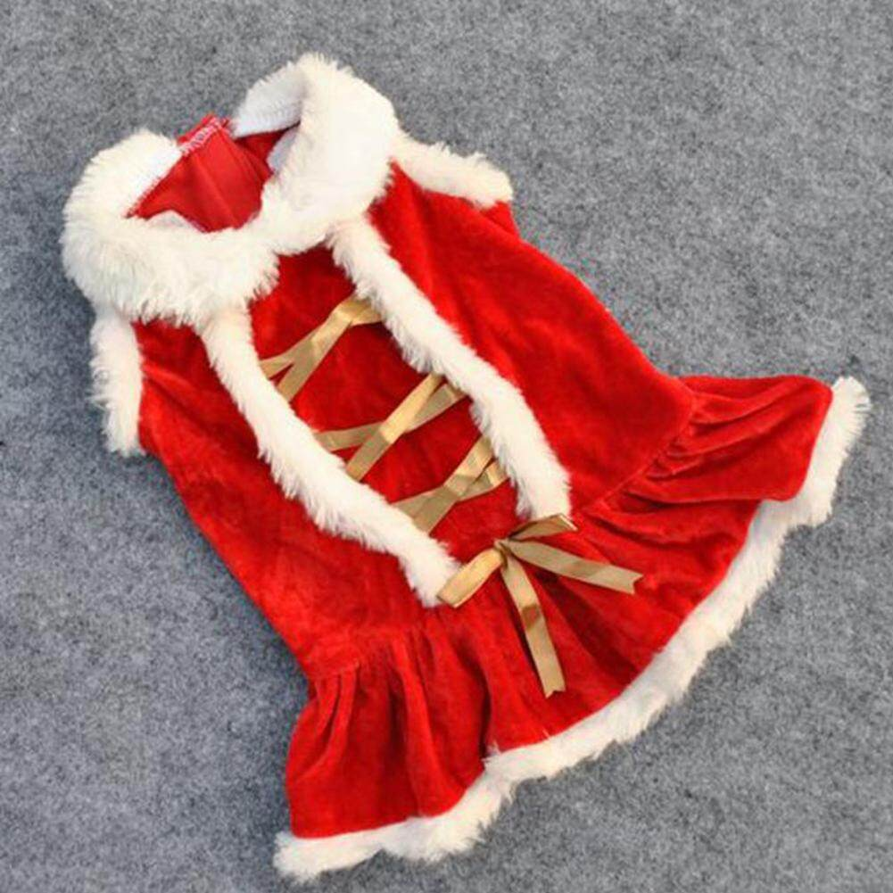 Big House Red Skirt Christmas Dog Clothes Santa Doggy Costumes Clothing Pet Apparel Christmas Cosplay Stype:xs By Big House.
