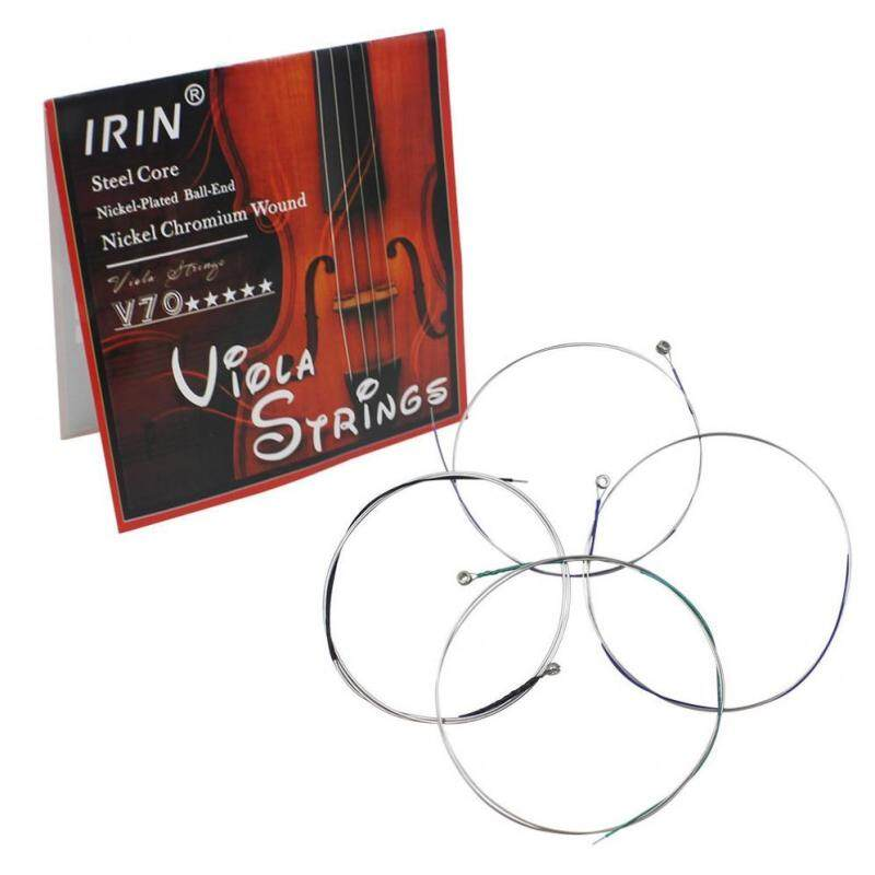 4pcs/set Viola Strings A-D-G-C Steel Core Nickel Chromium Wound Elegant Stringed Malaysia