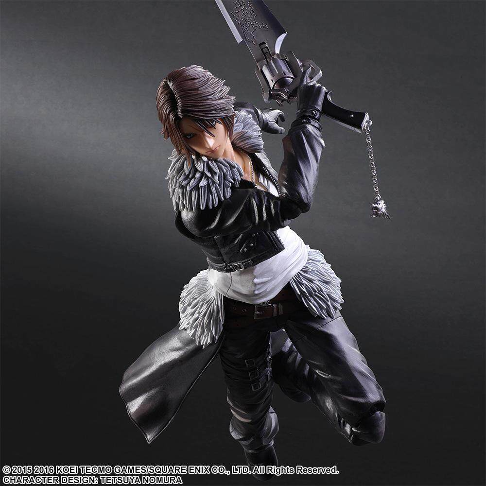 PLAY ARTS 27 ซม.Final Fantasy VIII Squall Leonhartตุ๊กตาขยับแขนขาได้ของเล่น