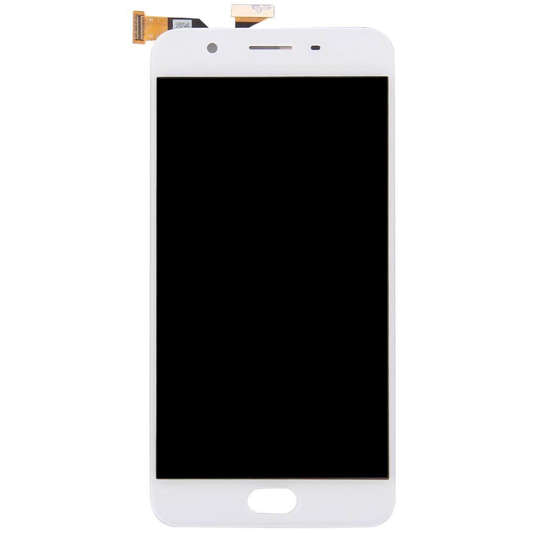 OPPO A59/F1s Layar LCD dan Digitizer Penuh Perakitan (Putih)