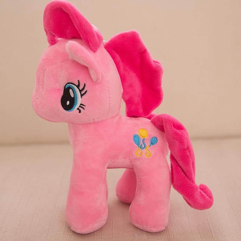 Anak-anak Hadiah Ulang Tahun Pelangi Mainan Kuda Boneka Kartun Kain Halus Jarang Pai Pinkie Fluttershy Twilight Sparkle Garis Pelangi Anak-anak