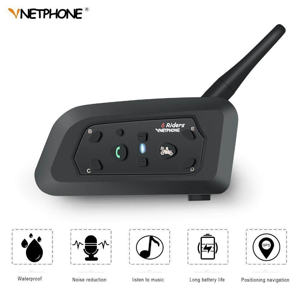 1 set V6 Bluetooth Intercom Moto Motorcycle Helmet Accessories Speaker 1200m Interphone Headset - intl