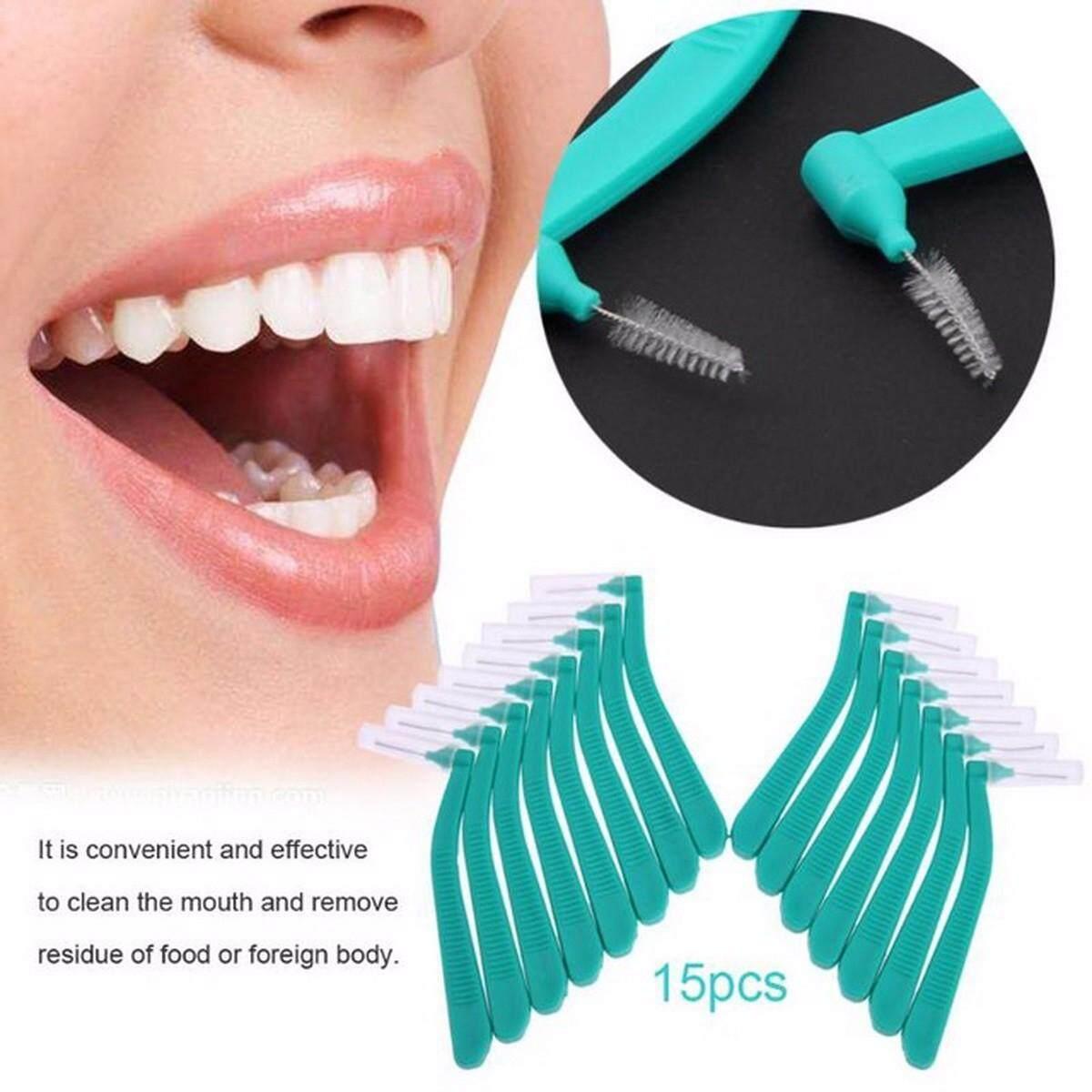 L Berbentuk Sikat Interdental Denta Benang Pembersih Interdental Ortodontik  Kawat Sikat Sikat Gigi Perawatan Lisan Tusuk a97da59d2e