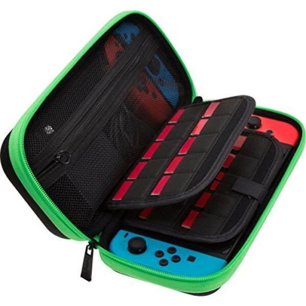 Butterfox Kotak Dompet Nintendo Switch, Cocok Listrik AC Pengisi Daya Adaptor, 29 Kartrid Game dan 2 Micro Sd Tempat Kartu, besar Aman Kantong Jaring untuk Nintendo Switch-Neon Hijau/Hitam-Intl