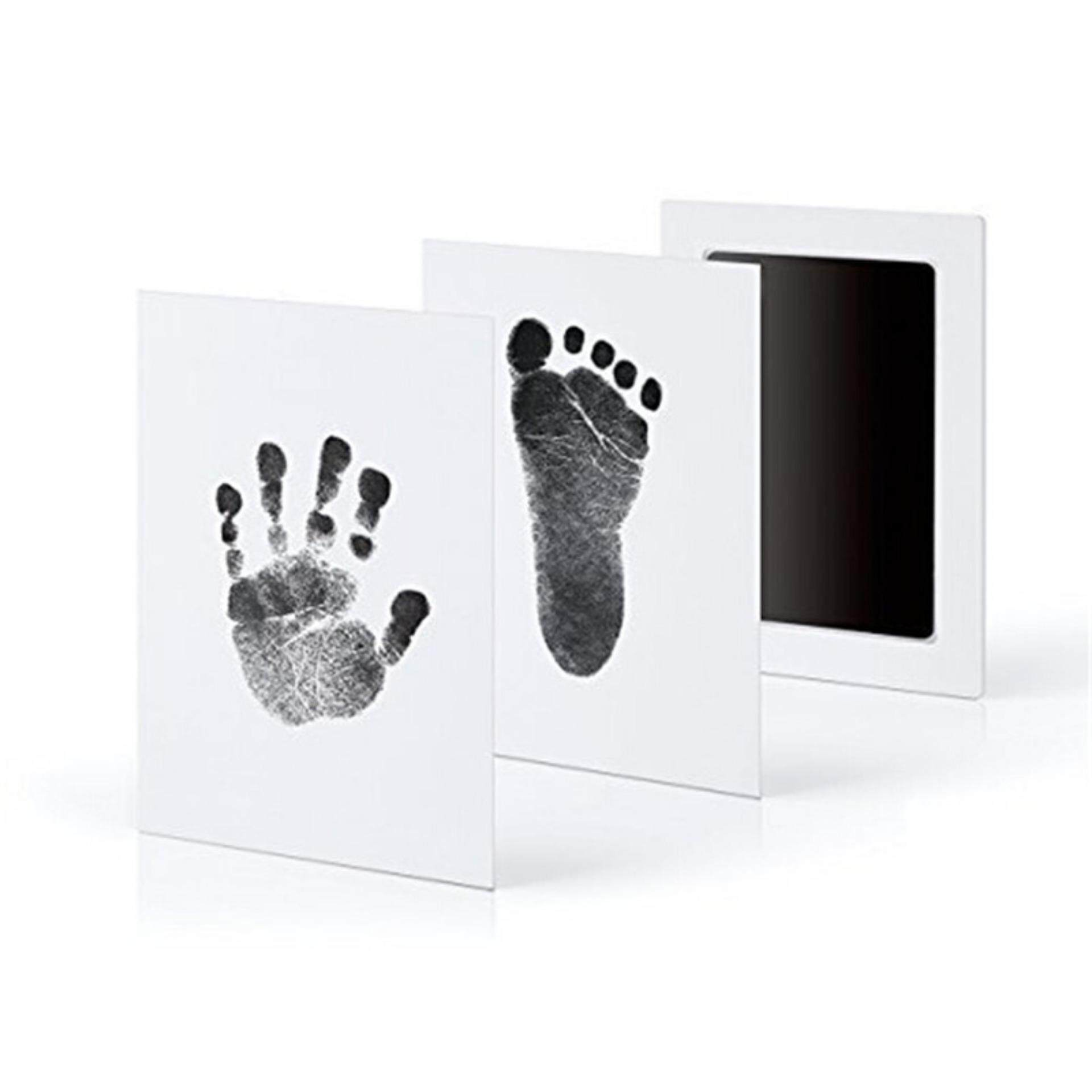 Extra Large Baby Safe Clean Inkless Touchfootprint And Handprint Ink Pad Black By Lofty White.