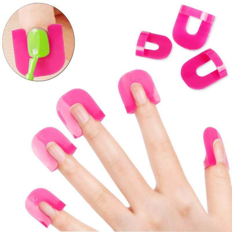 26 Pcs / Set Nail Art Nailpolish Glue Model Spill Proof Manicure Protector Tools+ 1 PC French Manicure Stickers - intl Philippines