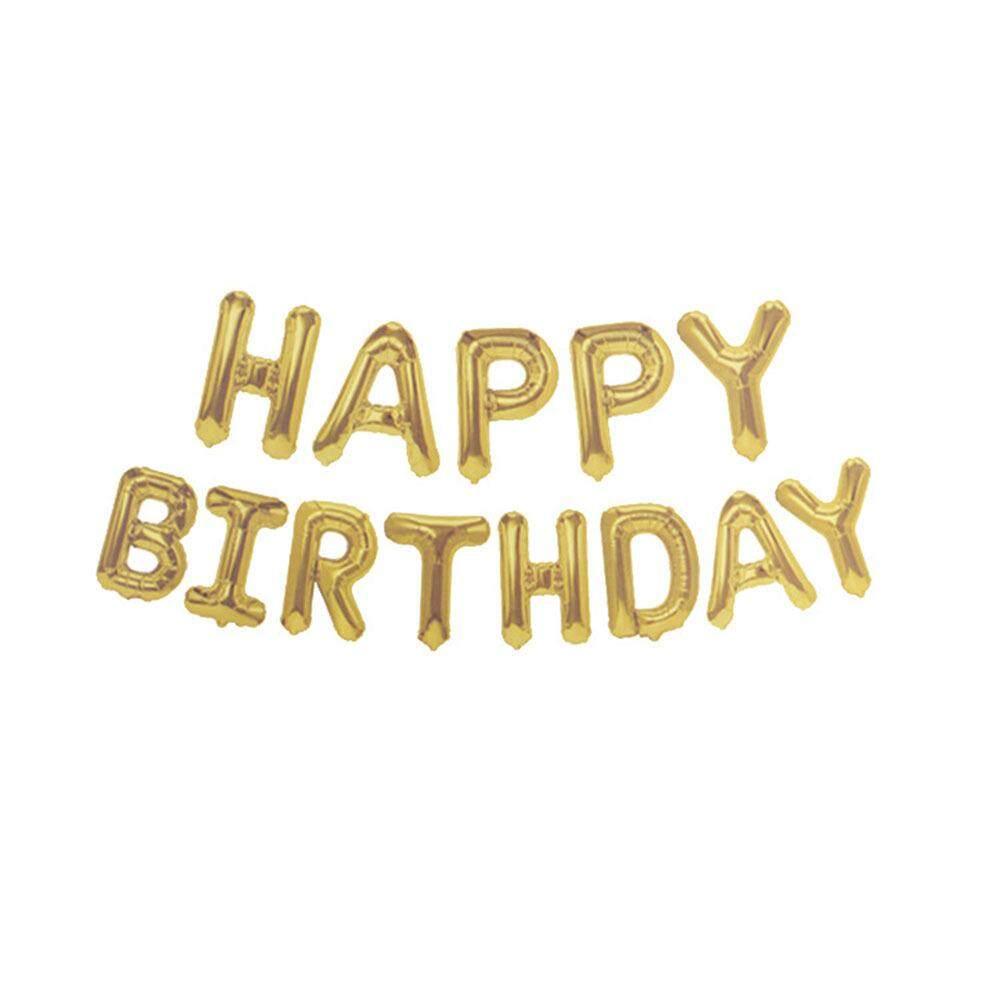 Abjad Selamat Ulang Tahun Balon Aluminium Tulisan Banner Kertas Timah Balon untuk Ulang Tahun Dekorasi Pesta