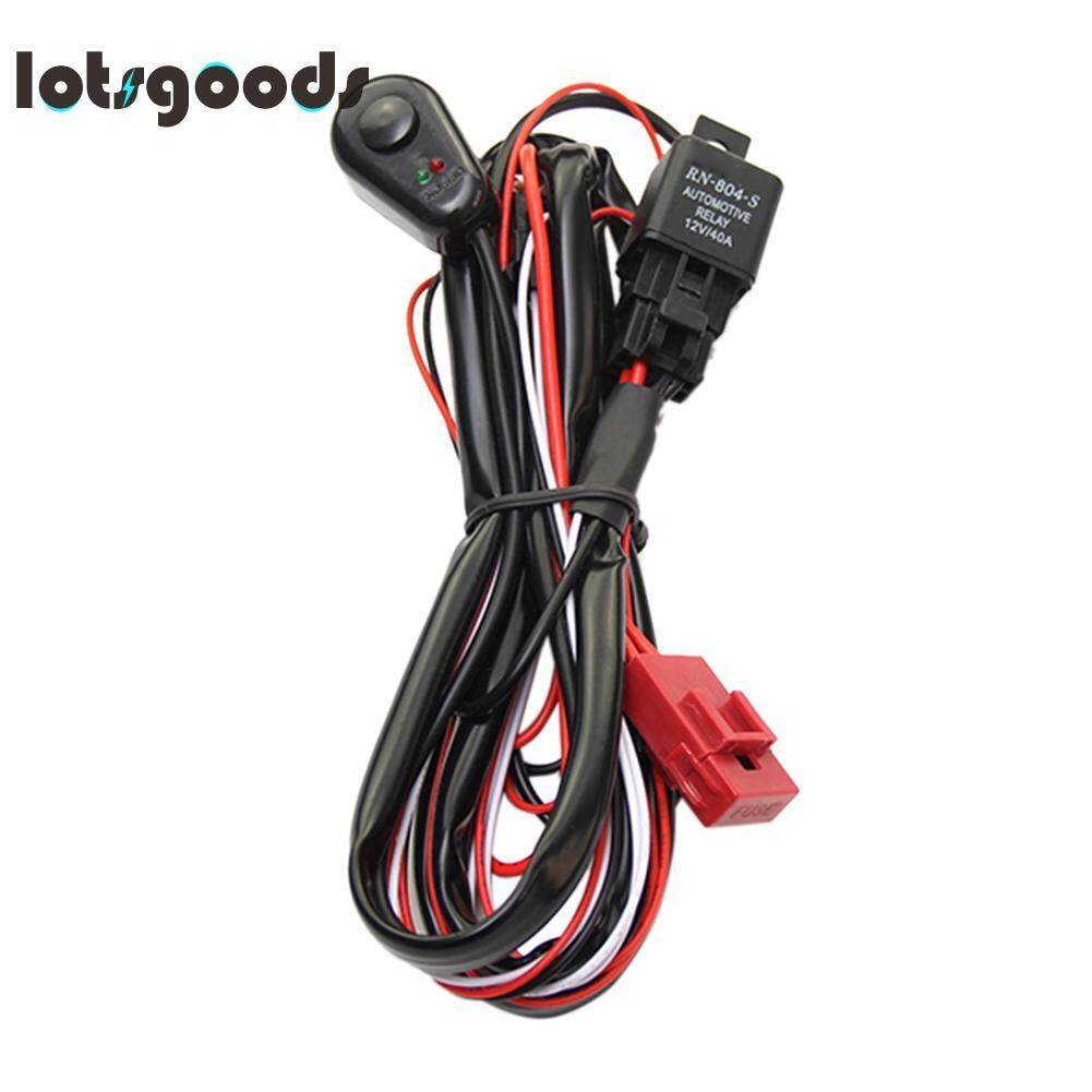 Car Lighting Electrical For Sale Parts Fog Light Harness Kit Wiring With Fuse Relay Switch 2 Led Bar Intl
