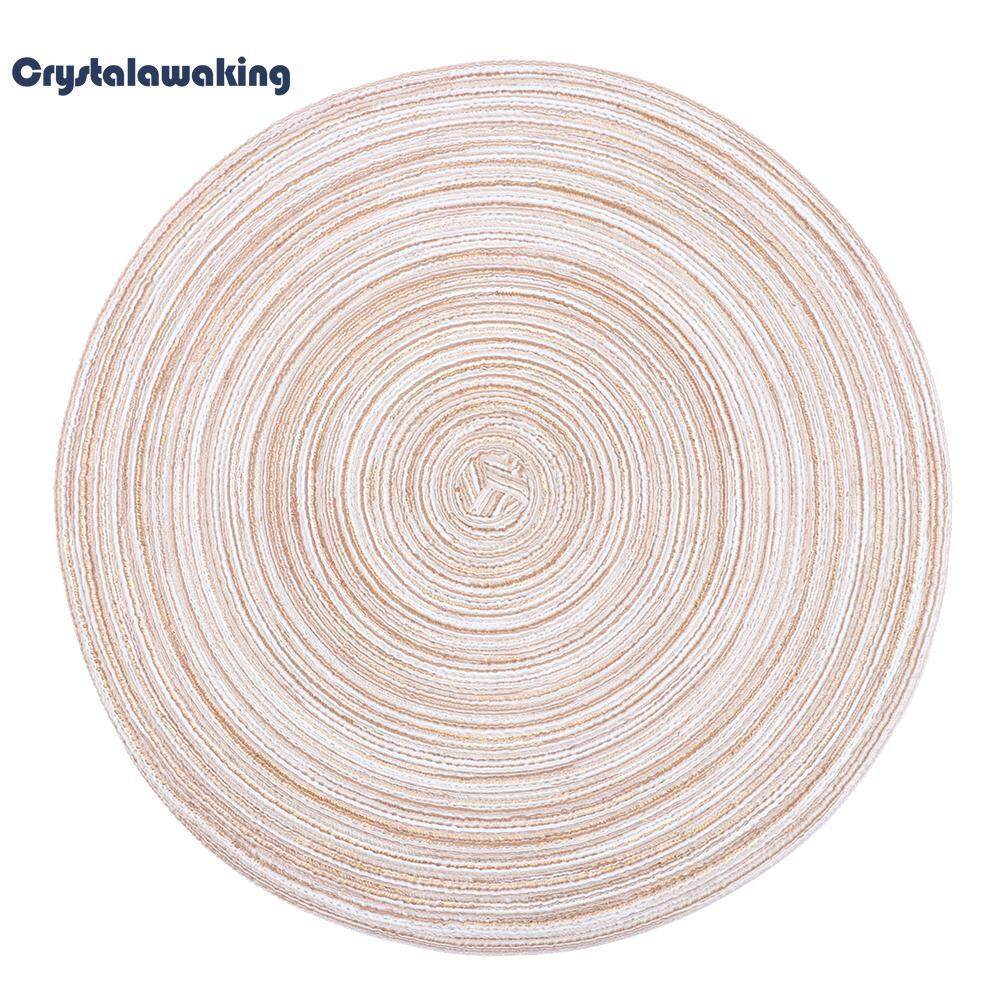 c5e60372b1e Round Heat Insulation Anti Slip Bowl Placemat Table Mat Plate Dish Coaster