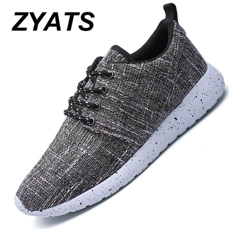 Zyats Pria Pakaian Ringan-Tahan Menjalankan Sepatu Korea Olahraga Bernapas  Kasual Sepatu Bebas-Slip a8d87433ec