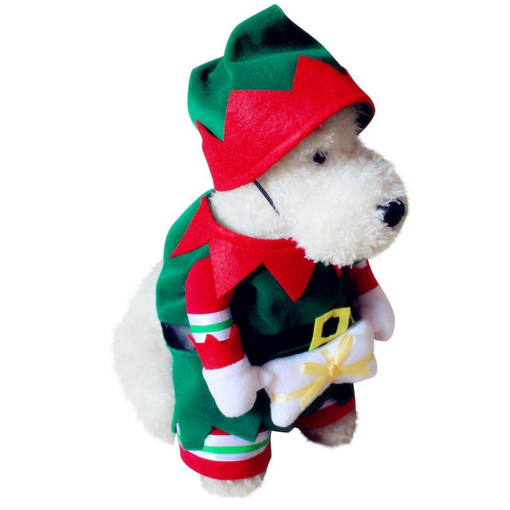 Pet Dog And Cat Christmas Suit Santa Claus Dressing Up Party Apparel Clothing With Hat  M By Moonbeam.