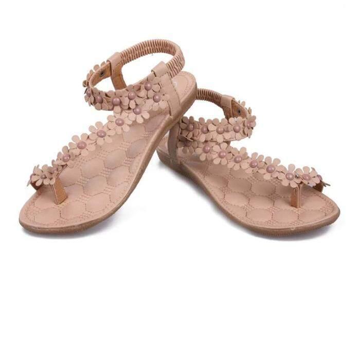 a85f780bcdfc Summer Bohemia Sweet Beaded Sandals Clip Toe Sandals Beach Shoes KH 35