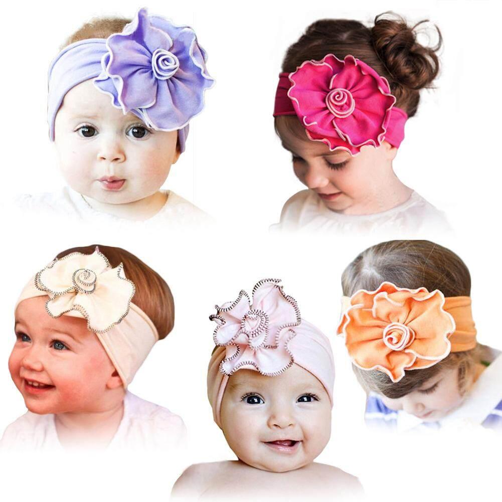 TA Cute Baby Girl Flower Shape Headband Cotton Cloth Decoration Headwear Hair Accessories