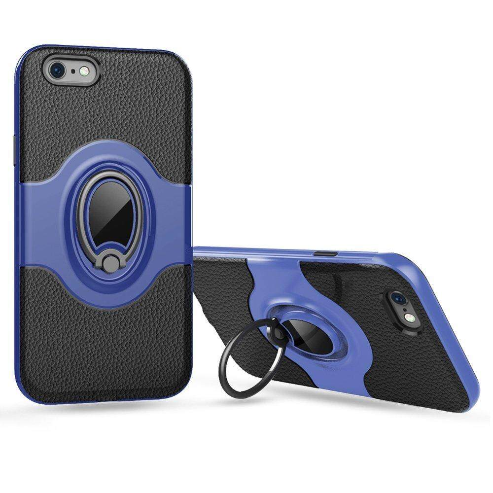 JD 360 Degree Rotating Ring Grip Case Dual Layer Shockproof Hard Case Cover with Magnetic Car Mount for iPhone 6 / 6s