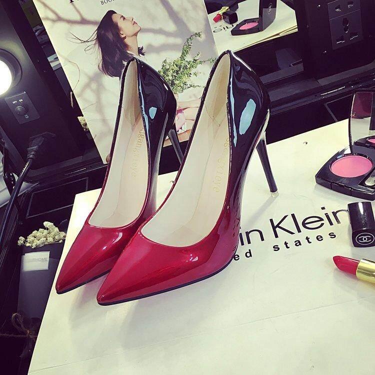 Gaya Korea Baru Hak dengan Model Runcing Hak Tinggi Perempuan Sepatu Pompa Sepatu - 4