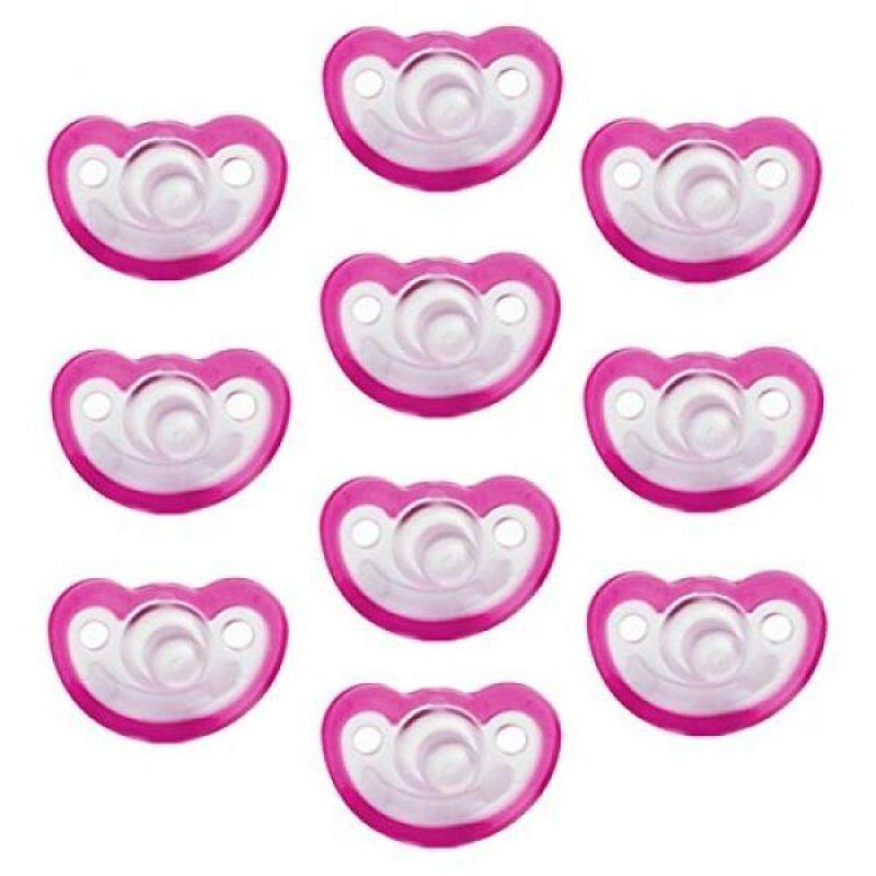 Razbaby JollyPop 3+ Months Pacifier 10 Pack Unscented - Pink Singapore