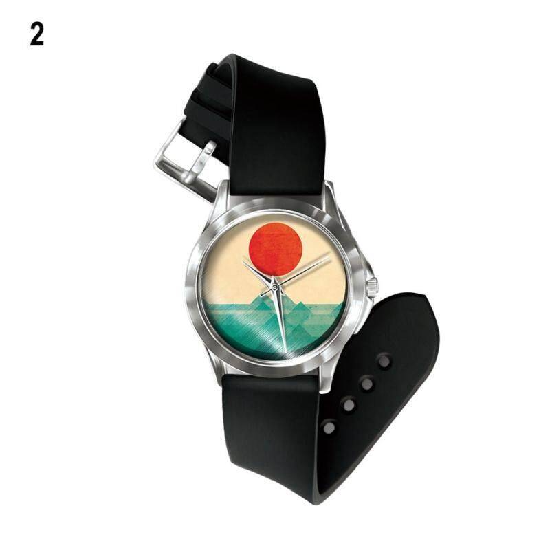 Phoenix B2C Colorful Painting Unisex Festival Gift Band Number Free Wrist Watch Hand Decor (2#) Malaysia