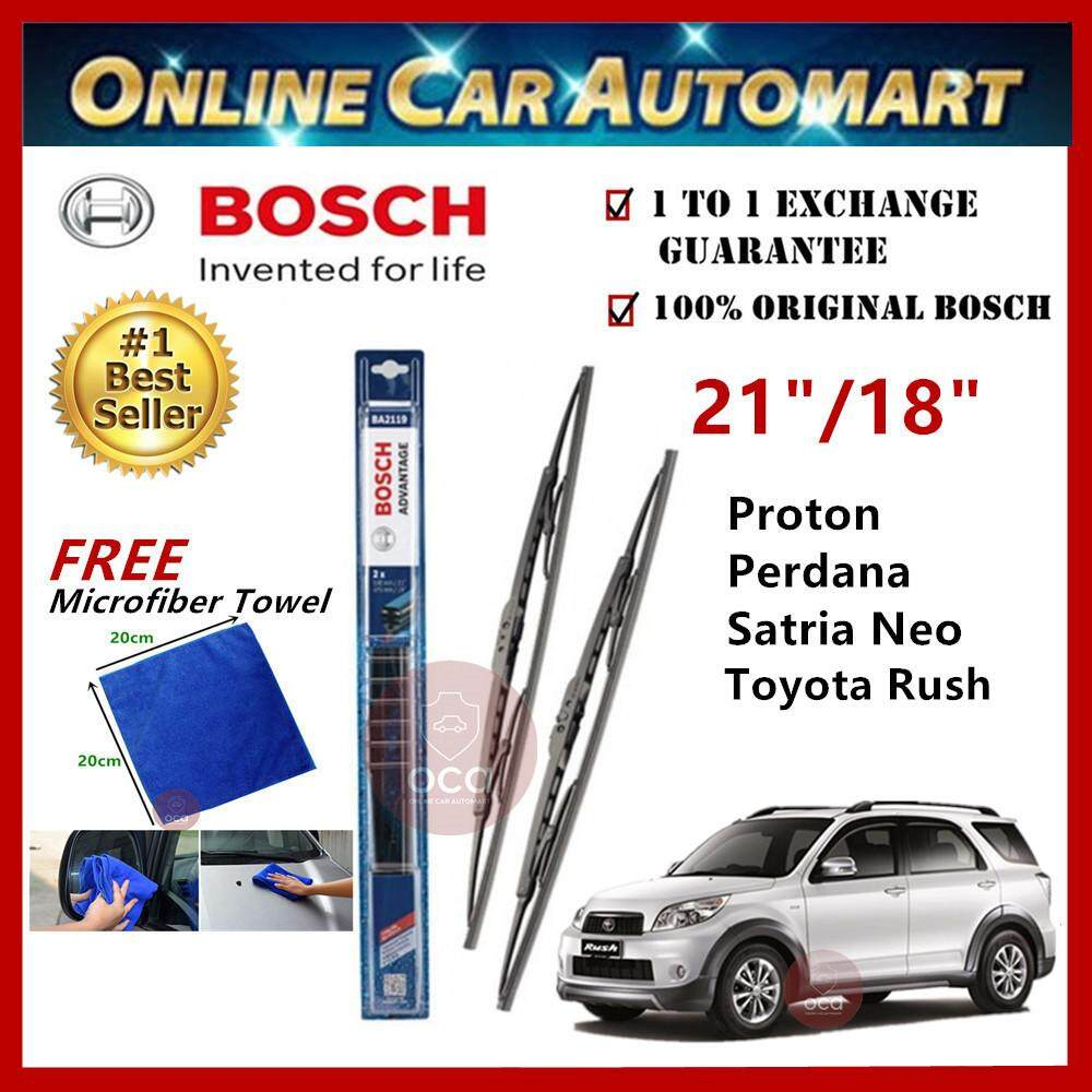 Perodua Nautica - Bosch Advantage Wiper Blade (Set) - Compatible only with U-Hook Type - 21 inch & 18 inch