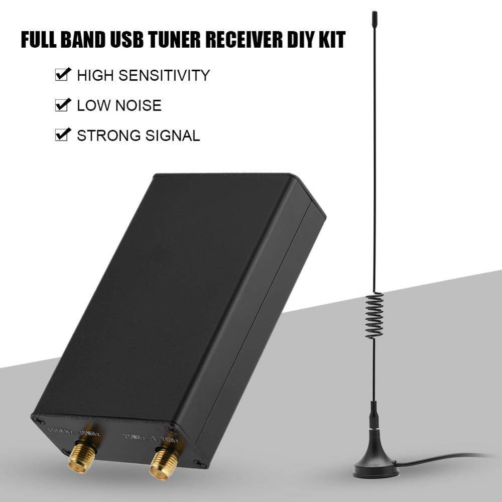 USB Tuner Receiver 100KHz-1 7GHz Full Band UHF VHF HF RTL-SDR USB Tuner  Receiver DIY Kits with U/V Antenna - intl Singapore