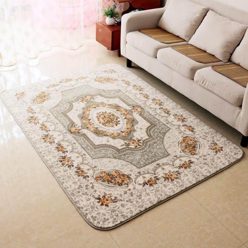 Coral Velvet Carpet Living Room Bedroom European Countryside Mat Can Machine Wash cha ji dian Bedroom Rug Anti-slip Water Absorption