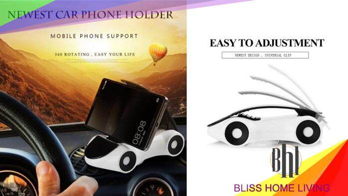 (YELLOW)CAR SHAPE MOBILE PHONE HOLDER