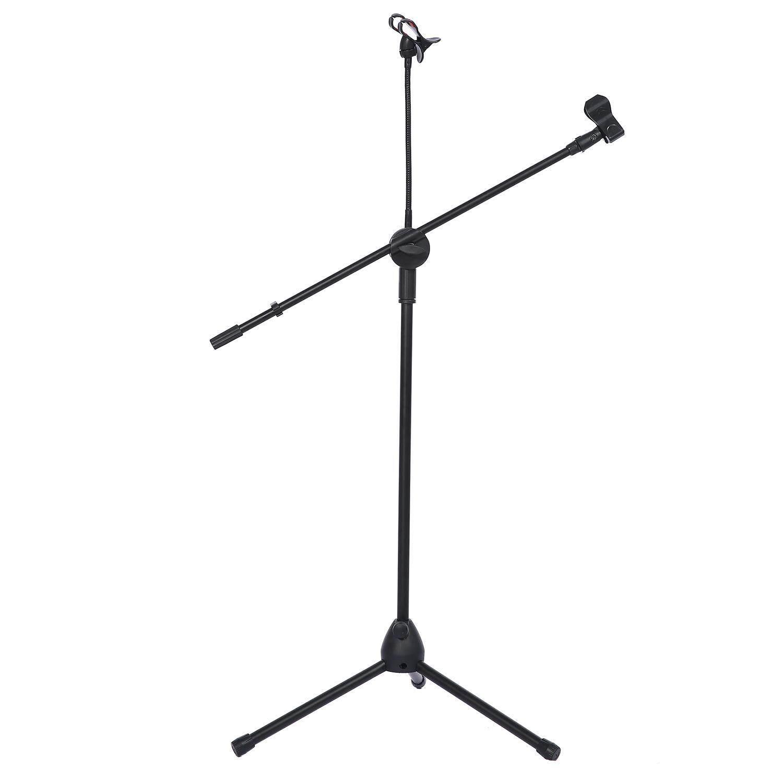 Huohu Musik Mikrofon Mikrofon Berdiri Tablet Dudukan dengan 360 ° Putaran Sesuaikan Pemegang-Internasional