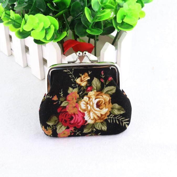 Wanita Wanita Vintage Jaman Dulu Bunga Pengait Dompet Kecil Tas Tangan
