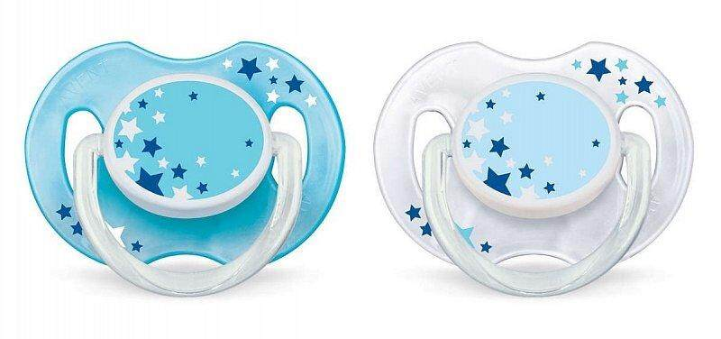 Philips Avent night time glow in the dark soother 0-6m