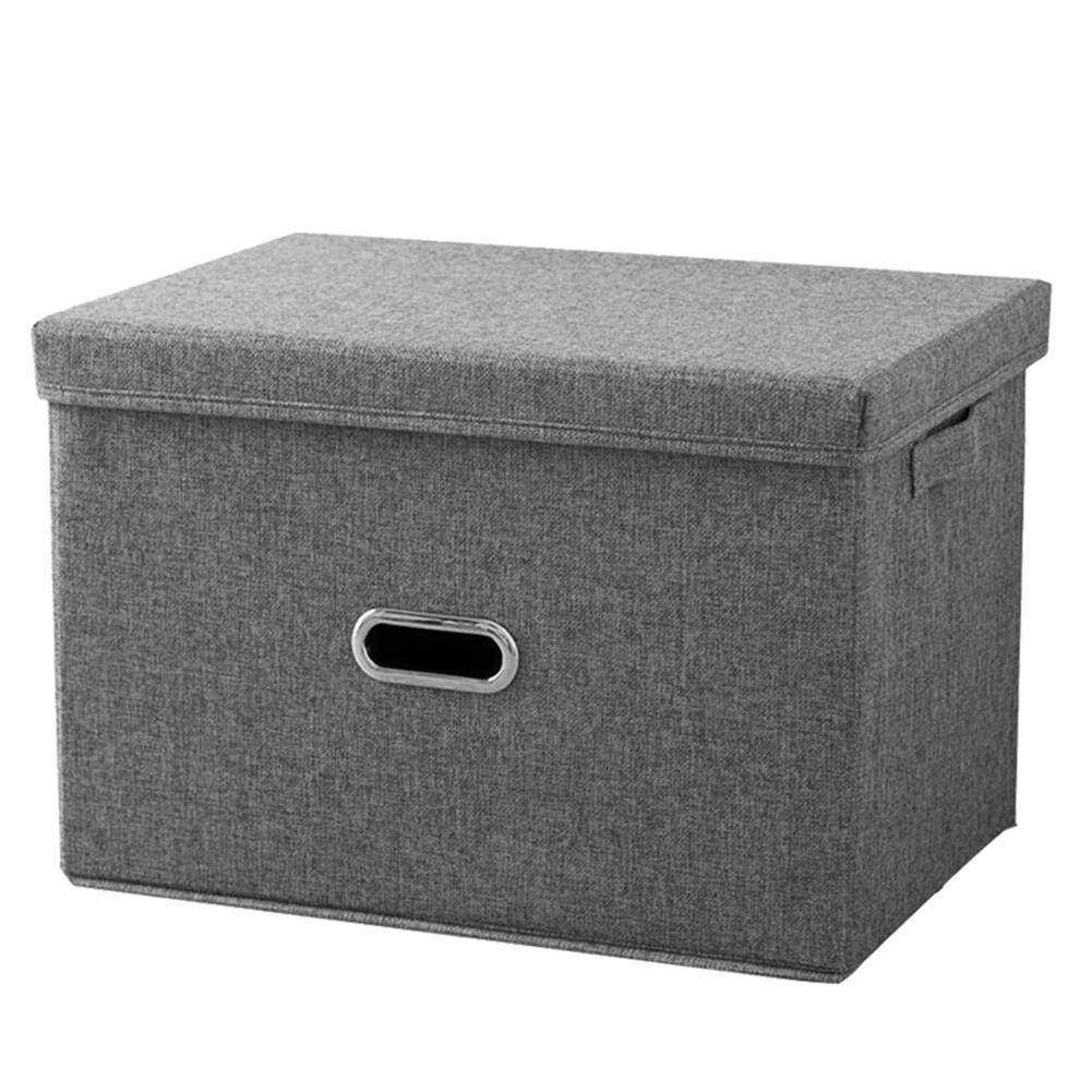 leegoal Large Storage Box,Sturdy Collapsible Fabric Storage Bin Container Basket Home Cube Organizer With Removable Lid For Bedroom,Closet,Shelves,Office-44*29*30cm(L)