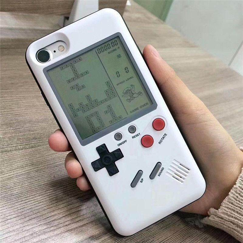Lucky-G Creative Retro Tetris Classic Game Console Case Cover for iPhone 6/6s, 6/6s plus, 7/8, 7/8plus(without Battery) Models:iPhone 7 PLUS/8 PLUS - intl