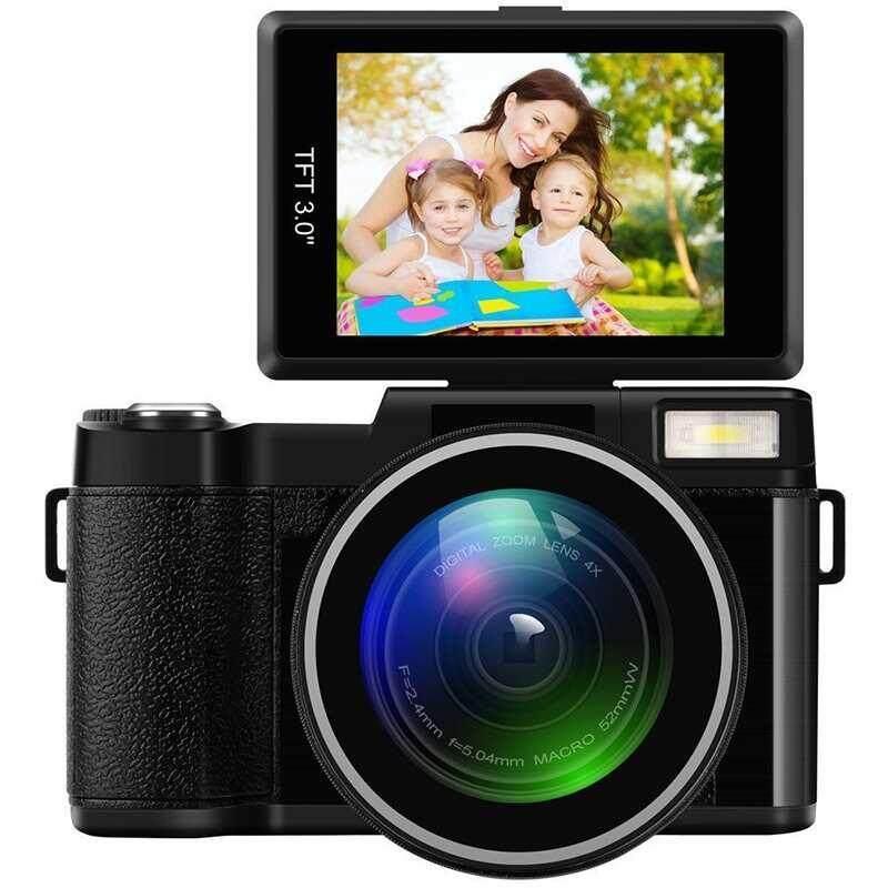 Yuero CDR2 CD-R2 1080 P Penuh Video Digital HD Kamera Portable Home-Menggunakan DV dengan 3 Inch Berputar Layar LCD Max. 24 Mega Pixels Digital Zoom