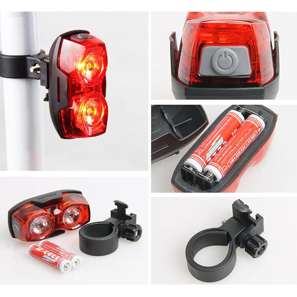 Safety Warning Headlight Led Bicycle Taillight Cycling Light Moutain Road Bike Rear Saddle Lamp Rain-proof