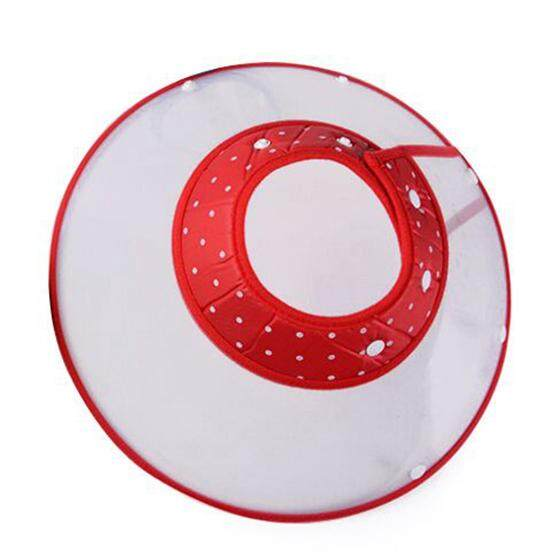 Dog Cat Elizabethan Non-Toxic Medical Wound Healing Cone Pet Anti Bite Collar, M, Red By Yoyonow.