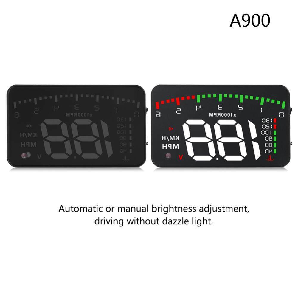 Justgogo A900 3.5Inch Car HUD Head Up Display OBD2 II Speedometer KM/h Speed Warning Alarm