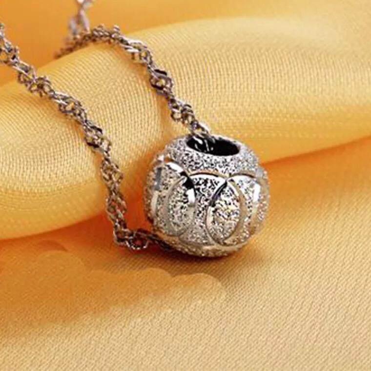 【Jalan perak murni melewati 10 cm】Cerah Rumah 925 sterling silver pendant adalah liontin yang bukan kalung