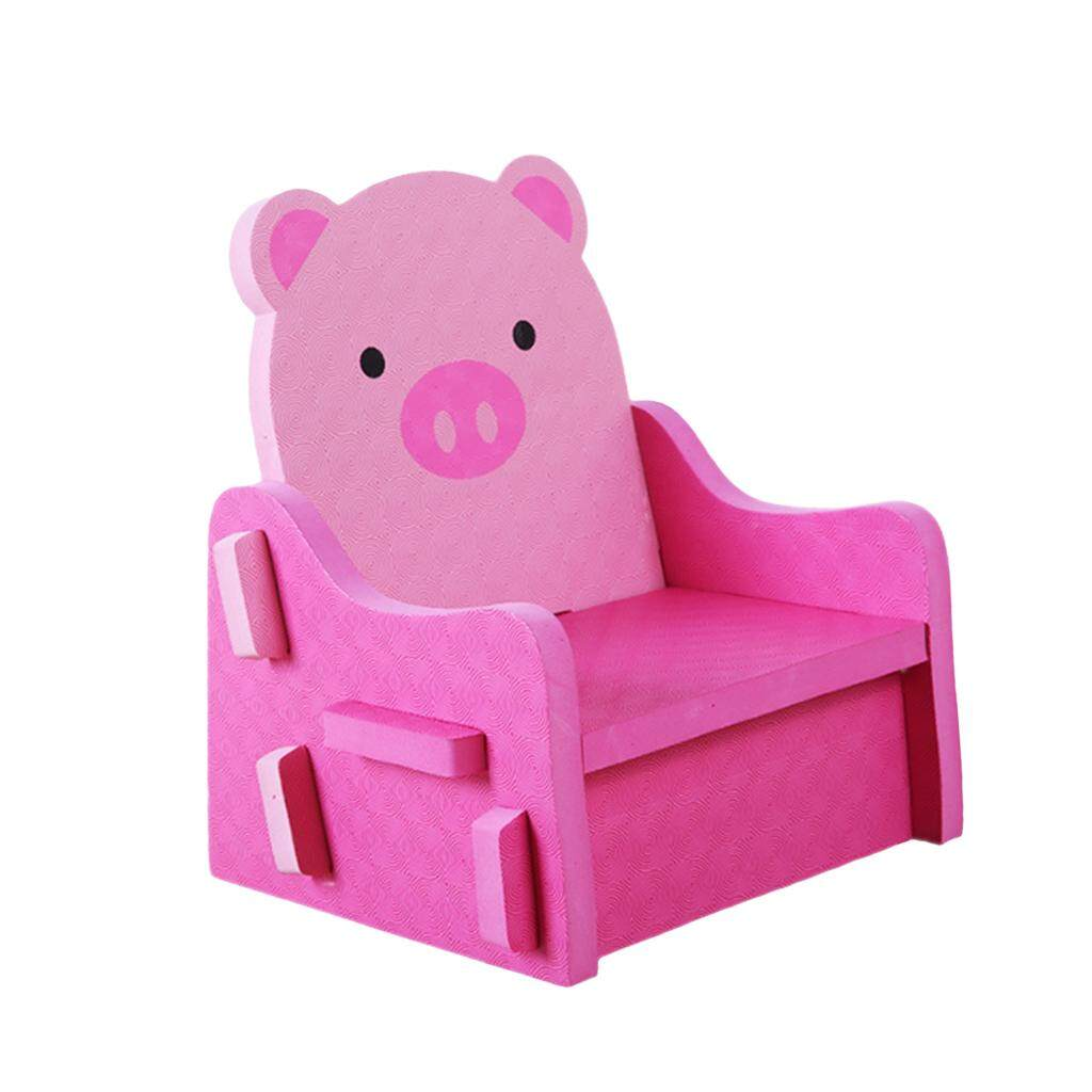 BolehDeals Non Toxic PE Foam Kids DIY Chair Pretend Play Chairs Stool Pink