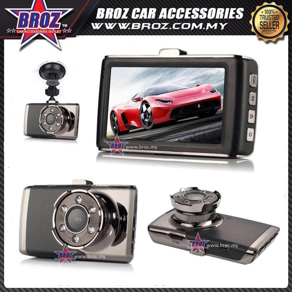 "3.0"" Dash Cam 140 Degree 1080P Camera 6 IR LED Night Vision Video Recorder HDMI"