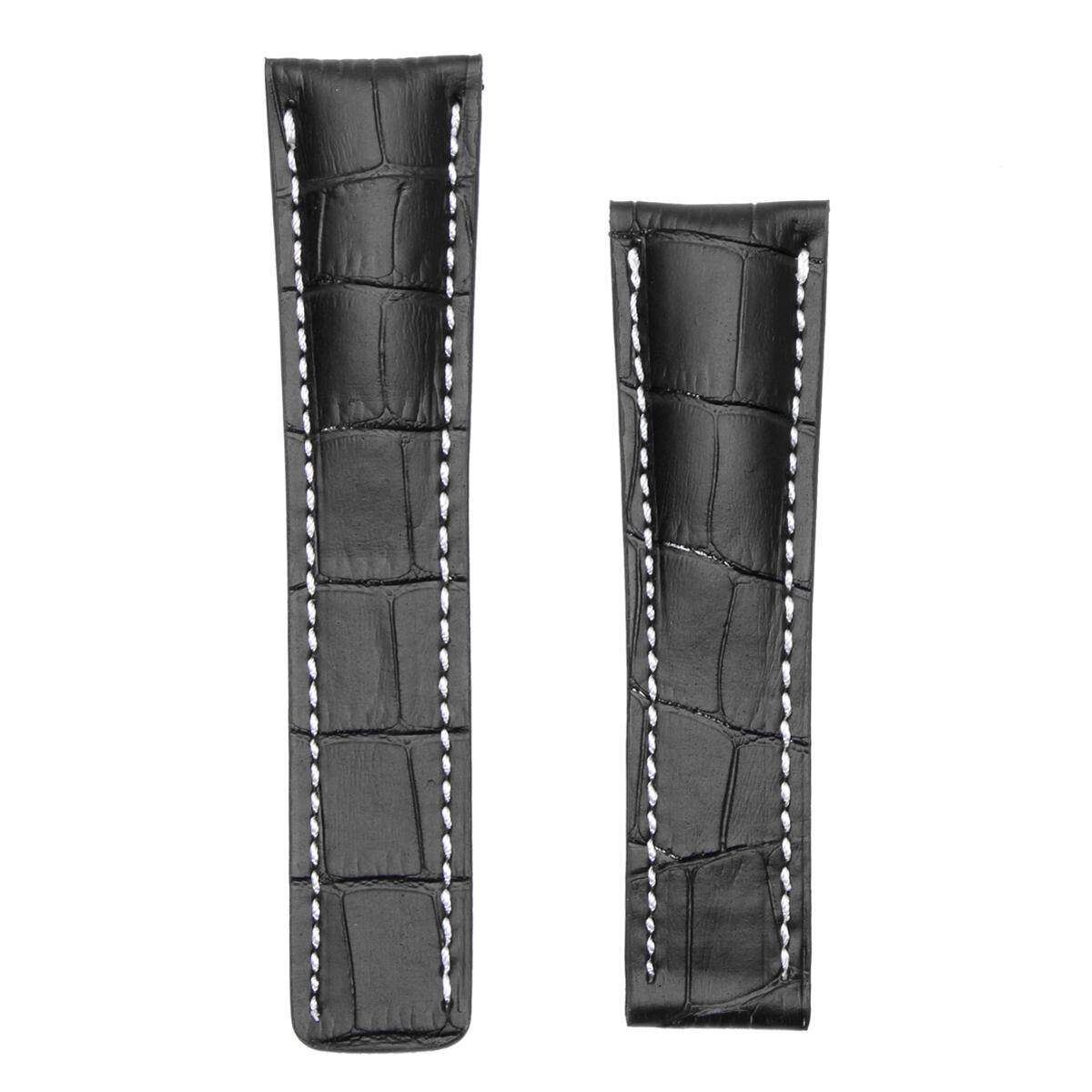 [black 24mm]BOB Alligator Style Deployment Strap for Breitling, 20-24 mm, 11 colors, new! - intl
