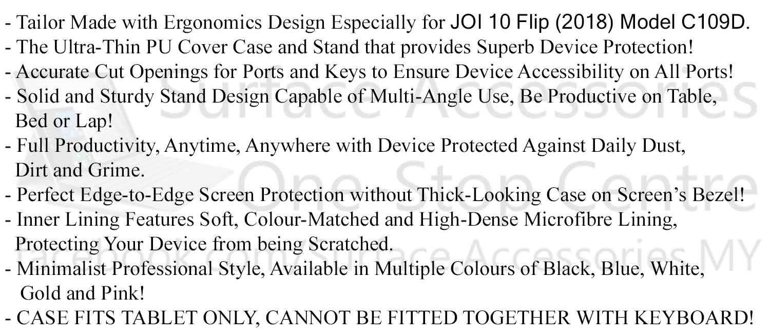 [MALAYSIA]JOI 10 FLIP 2018 Case Stand Cover Full Protection Cover Ultimate Case Stand Flip Case (JOI 10 FLIP Model: C109D)