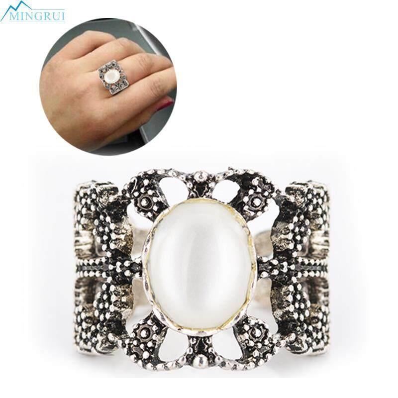 Mingrui Store Gemstone Vintage Ring Engagement Ring Silver Ring Fashion Design