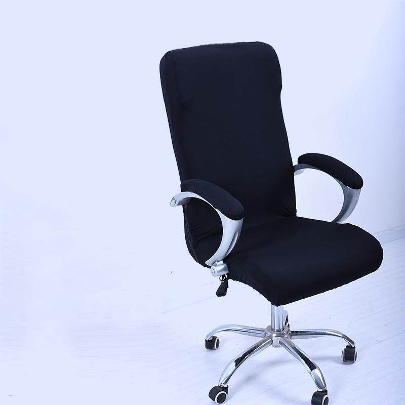 2 Pcs S Spandex Office Chair Cover Slipcover Armrest Cover Computer Seat Cover Stool Swivel Chair Elastic(Chair is NOT included)#Black