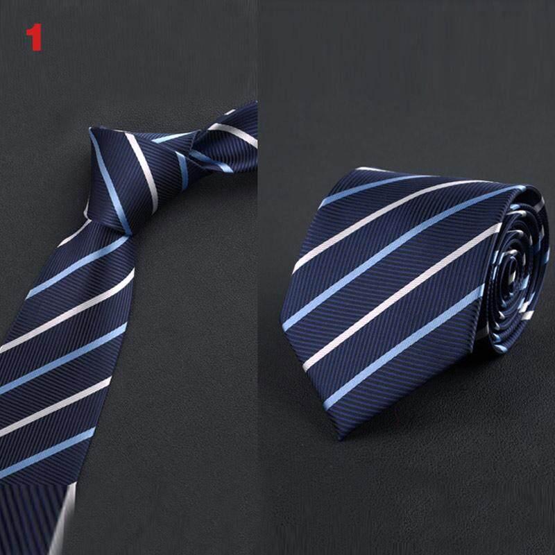 7db9100da4dc Amart Fashion Men Office Business Wedding Neck Tie England Stripes Jacquard  Woven 8cm Wide Necktie -