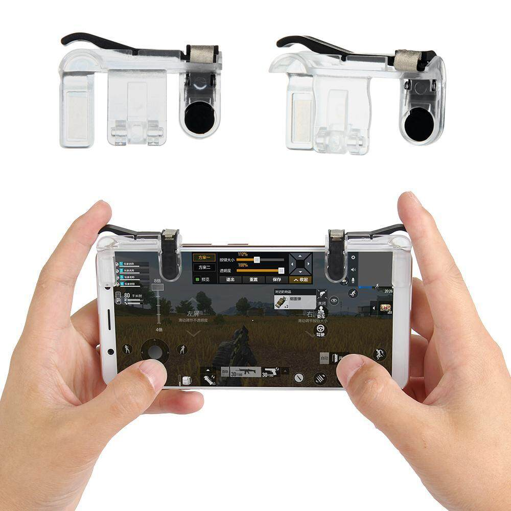 Niceeshop Ponsel Kontroler Game (Versi Baru) untuk Pubg/Aturan Bertahan Hidup sensitif Menembak Tujuan Tombol Joystick Ponsel Pintar Controller Fit Android IOS 1 Pair-Intl