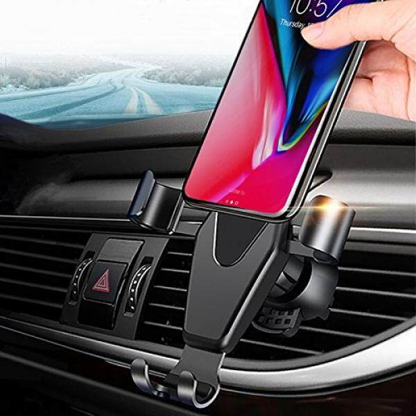 Car Cradles & Mounts JAHMAI Car Phone Holder, Air Vent Gravity Sensing Auto Lock Metal Phone Mount Smart No Touch Design One hand Operate for iPhone X/8/7/6s/Plus/5S/Samsung S8/S7/Note and other 4-6 Inch Smartphones - intl