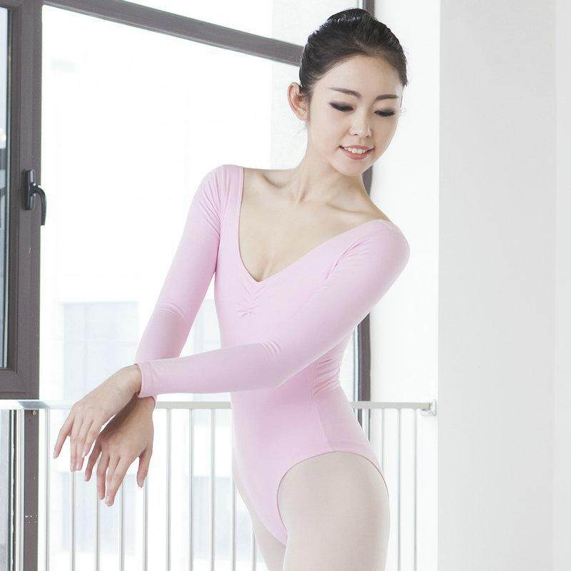 Dance Feast Christmas Gift 2 Pure Cotton Long Sleeve Gym Outfit High Hip Dance Adult Ballet Exercise Clothing By Taobao Collection.