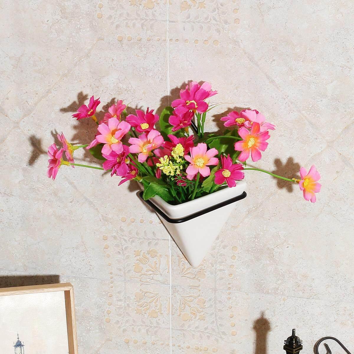 Tanaman Logam Berdiri Pot Bunga Penahan Rak Pemegang Bingkai Besi Vas Keramik-Intl
